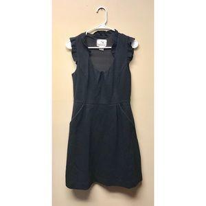 Anthropologie Formal Black Dress with Pockets